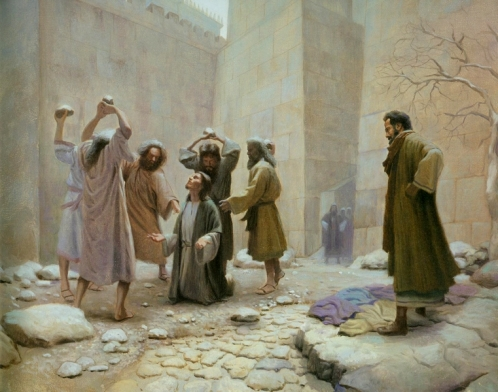 Image result for image of the stoning of stephen