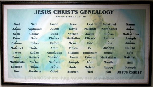 Image result for image of the genealogy of jesus according to luke