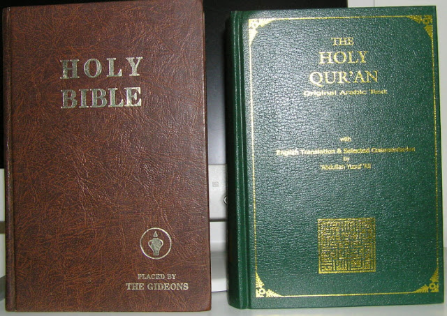 Image result for image of the koran and the bible