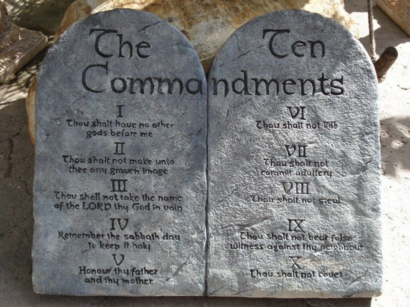 Image result for image of the tablets of the ten commandments